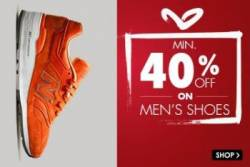 Snapdeal offering Minimum 40% off on Men's Shoes