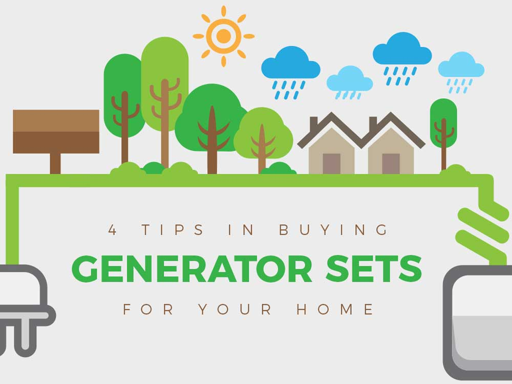 4 Tips in Buying Generator Sets for Your Home